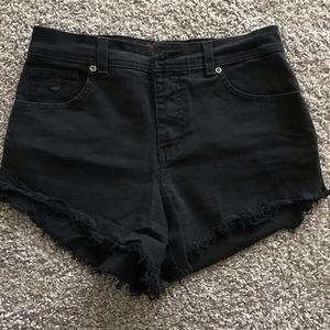 GLORIA VANDERBILT Distressed Black Cut-off Shorts